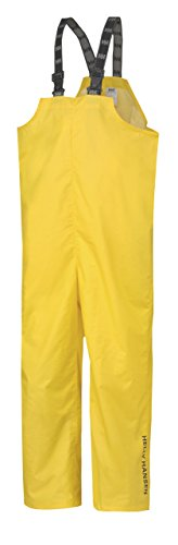 Helly Hansen Workwear Men's Mandal Fishing and Rain Bib Pant, Light Yellow, Large