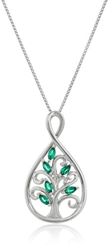 xpy-sterling-silver-created-emerald-family-tree-infinity-pendant-necklace-18