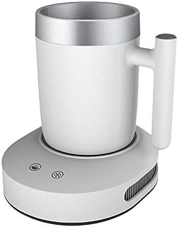 Heritan Enfriador o calentador de taza 2 en 1, bebidas de café, té, agua, leche de escritorio, calefacción o refrigeración temperatura de bebidas, color blanco