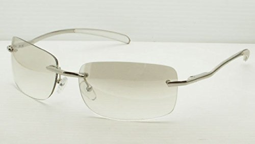 FRAMELESS CLEAR/LIGHT BROWN LENSES SUN-GLASSE S UNISEX PRESCRIPTI ON MEN WOMEN METAL GOLD FRAME by Solar-X