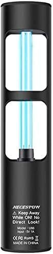 noir lampe st/érilisante ultraviolette /à lozone NECESPOW pour les toilettes de larmoire pour animaux 360 degr/és tue les bact/éries lampe UV germicide rechargeable Lampe de d/ésinfection UV