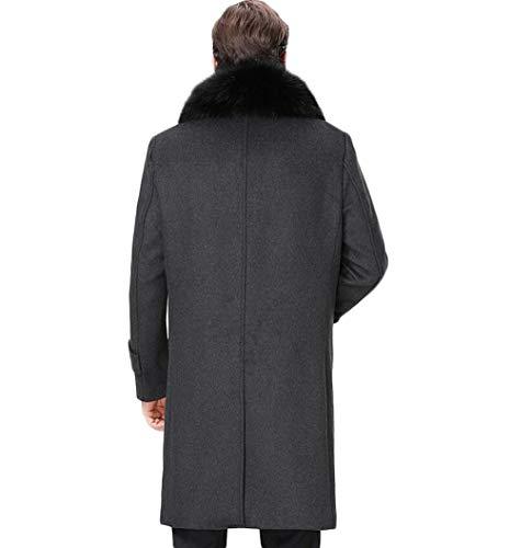 Gray Invierno Para Hombre De Con Gama Tamaño Mediana Gkkxue Abrigo Alta Brown Padre Edad Metro color gEaZqg4XW