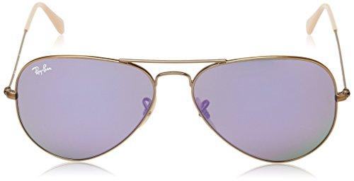 Ban de Lens Large amp; Aviator Hombre Mirrors Bronze Brushed Lillac para Metal sol Multicolor Gafas Ray Demiglos gU4qdWq