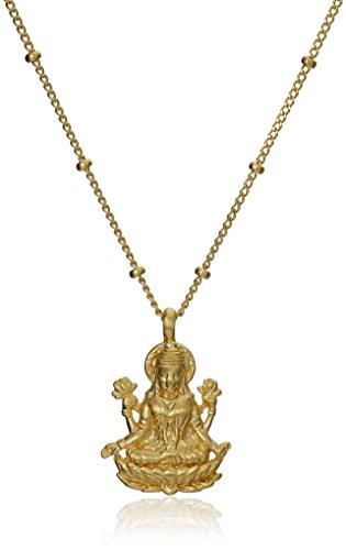 satya-jewelry-gold-lakshmi-adjustable-pendant-necklace-16-2-extender