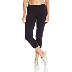 Hanes Women's Stretch Jersey Capri, Black, Large