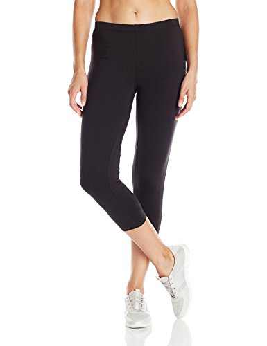 Hanes Women's Stretch Jersey Capri, Black, Medium (Black Capris Hanes)