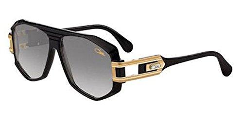 Cazal 163 001SG Sunglasses, Shiny Black Gold 59 mm (Cazal 163)
