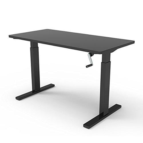 FlexiSpot 48u0027u0027 Crank Standing Desk Sit Stand Desk With Black Top Adjustable  Height Desk