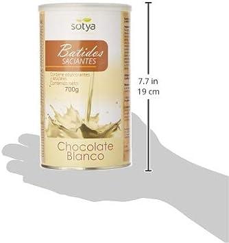 SOTYA Batido Sabor Chocolate Blanco 700 gr: Amazon.es: Salud y cuidado personal