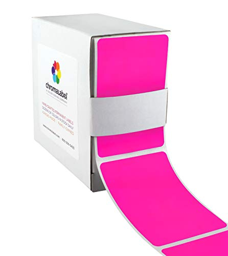 (ChromaLabel 2 x 3 inch Color-Code Labels | 250/Dispenser Box (Fluorescent Pink))