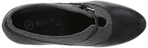Bella Vita Womens Neely Boot Zwart / Grijs Flanel