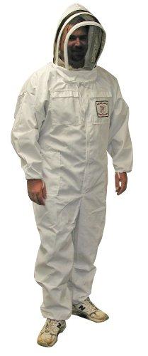 Mann Lake CV110 Cotton/Polyester Honey Maker Bee Suit with Veil, White, Medium by Mann Lake