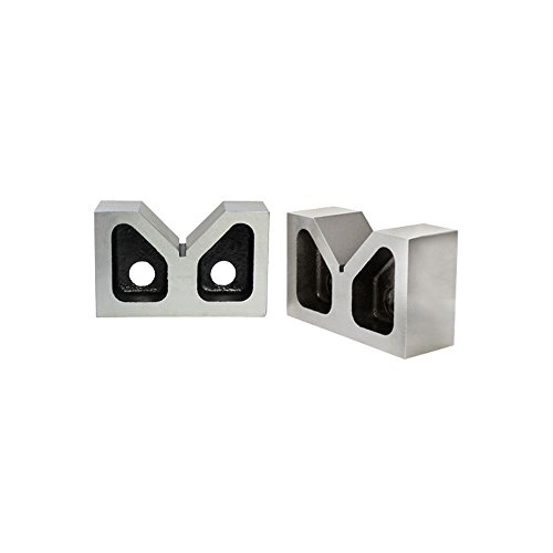 PAIR 4'' x 1-5/8'' x 2-5/8'' Cast Iron V-Blocks V-Block Ground