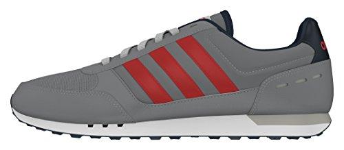 adidas Neo City Racer, Zapatillas de Deporte para Hombre Gris (Gris / Rojpot / Maruni)