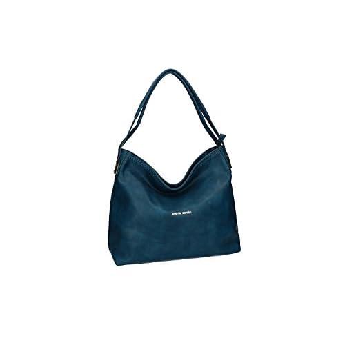 d5299cad3a3 Bolsa mujer hombro PIERRE CARDIN azul con abertura con zip VN2072 El  servicio durable