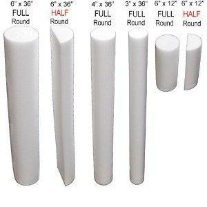 """Foam Roller - 6"""" x 36"""" - Full Round - White"""
