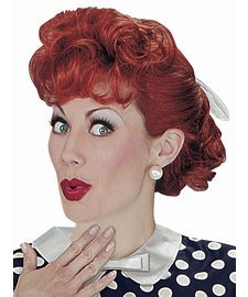[I Love Lucy Adult Wig] (Lucille Ball Costumes For Halloween)