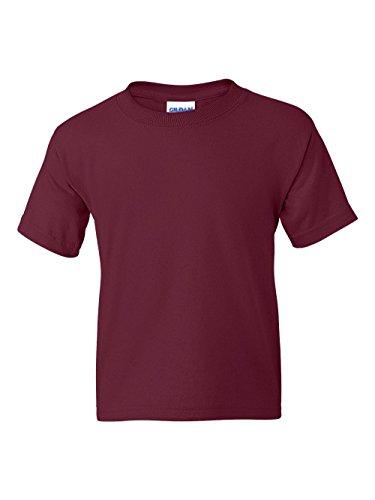 Gildan boys DryBlend T-Shirt(G800B)-MAROON-S