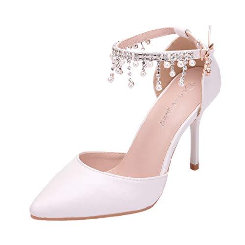 Women's Sandal -Flip Flops Arch Support-Women Sandals Wedges Peep Toe PU Belt Buckle Rivet Blocking Hook-Loop Fashion Wedges Sandals Summer Shoes White ()