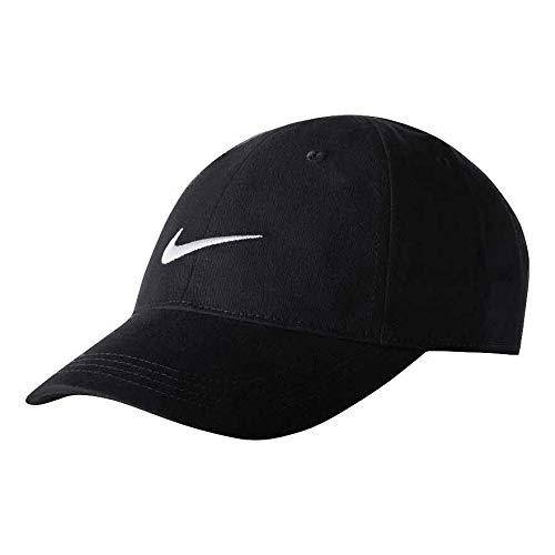 Nike 2T-4T Embroidered Swoosh Baseball Cap (Black)