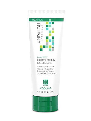 Andalou Naturals Aloe Mint Cooling Body Lotion 8 Ounce
