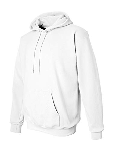 Hanes Mens Ultimate Cotton Heavyweight Pullover Hoodie,White,Large -