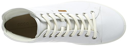 ECCO Damen Soft VII High-Top Fashion Sneaker Weiß