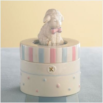Lenox Lazy Lamb Music Box