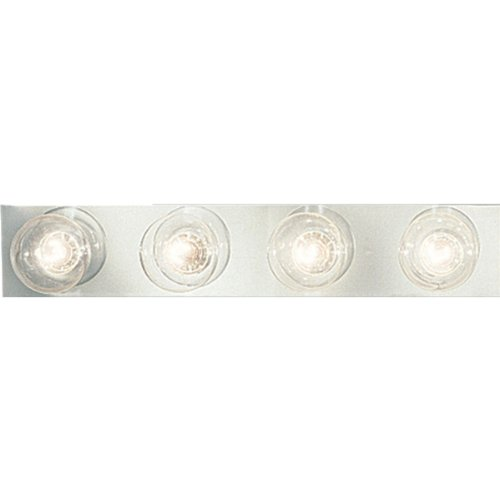 Progress Lighting P3298-15 4-Light Broadway Lighting Strips Sockets On 6-Inch Centers and UL Listed for Ceiling Mounting with 25 Watt Maximum Lamps, Polished Chrome (Broadway 6 Vanity Light)