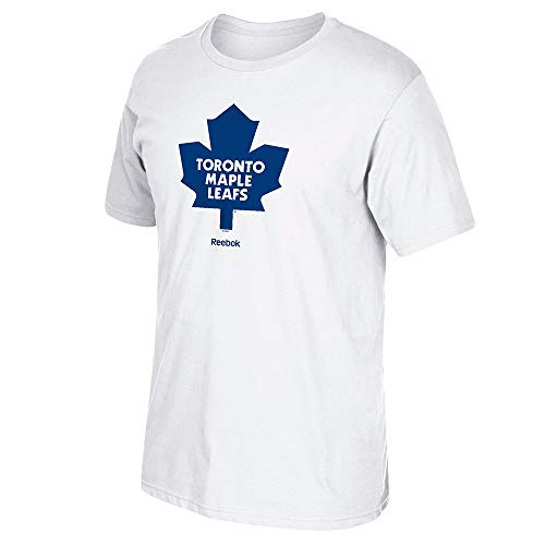NHL Toronto Maple Leafs Men's Jersey Crest Tee, Medium, White -