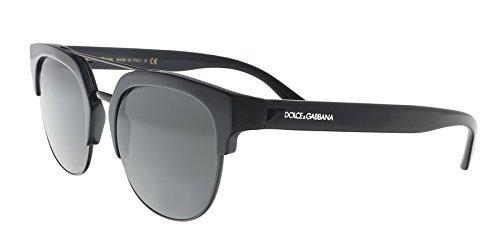 (Dolce & Gabbana Women's Swing Browbar Sunglasses, Black/Grey, One)