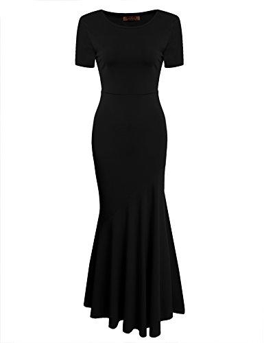 30s Sirena Vestito nero Della Elegante Delle Style Aderente Di Da Acevog Sera Sera Donne Breve 1 Abito BBnrSq
