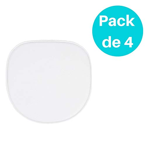 Woopi Lote de 4 Cojines para Silla Tower en Color Blanco ...