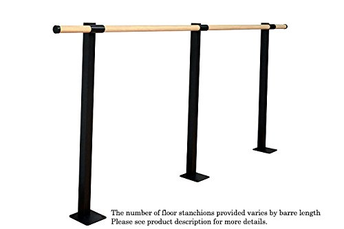 Vita Vibe Ballet Barre - SHS144-W - 12ft. Traditional Wood Single Fixed Height Floor Mount Ballet Bar - Stretch/Dance Bar - USA Made by Vita Vibe Floor Mount Ballet Barres