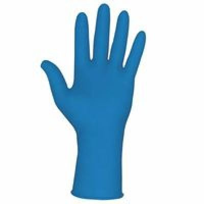 MCR Safety 5049XL 12-Inch Med-Tech Medical Grade NFPA Certified Powder Free High Visibility Gloves with Rolled Cuff, Blue, X-Large, 1-Pair by MCR Safety ()