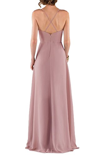 Avril Prom Strap Dress Guest Wedding Captivating Back Crossed Lavender Party Chiffon Dress 8r8qxwg