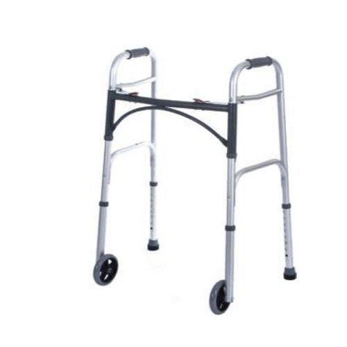 Medtherapies Deluxe Folding Walker w/Wheels (Adult 5