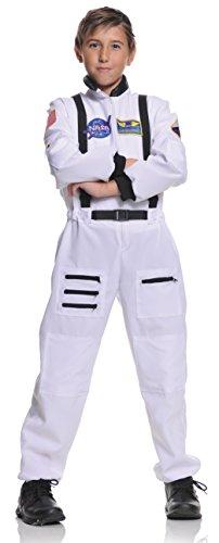 Underwraps Kid's Astronaut Costume, White, Medium