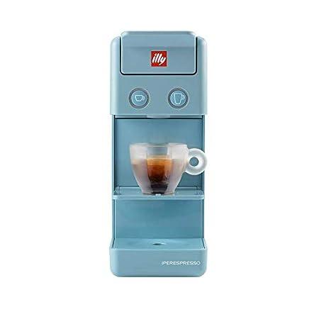 illy Y3 Espresso & Coffee Amalfi - Cafetera de cápsulas de plástico, color azul