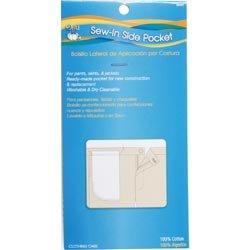 Bulk Buy: Dritz  Sew In Side Pocket 13in. x 6 3/8in. 1/Pkg 8