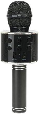 POPSTRMIC Wireless Bluetooth Karaoke Microphone, 3-in-1 Portable Handheld Karaoke Mic with HiFi- Speaker, Blue