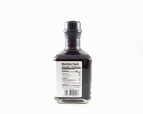 Barrel Aged Balsamic Vinegar Modena - Aceto Balsamico di Modena IGP - Modena Balsamic Vinegar: Barrel Aged, Gourmet - By Serendipity Life Certified Product PGI from Italy (8.4 oz) (1 Pack) 4 COLOR AND TEXTURE Il Aceto balsamico di Modena IGP is glossy, viscous, velvety, dark brown, achieving beautiful balance and depth of flavor of complex sweetness that explodes in the mouth with notes of fig, molasses, cherry, chocolate, or prune. Just a few drops of this black gold produce an enveloping aroma and a taste that is sweet and sour in equal measures. This makes an ideal addition to salads, raw vegetables and grilled meat. USE THIS PREMIUM ITALIAN CONDIMENTO for balsamic insalata, mesclun the go-to balsamic vinager combined with extra virgin olive oil for salad dressing, with just the perfect touch of acidity and sweetness for a perfect taste. A great enhancer for creams or stews, ideal as a marinade. Perfect for cooking, because it can reduce. Perfect to make high quality desserts, use with ice cream or berries. GOURMET: An everyday ingredient with impeccable taste that turns any meal, appetizer, h'ors d'oeuvres, or dessert from ordinary to extraordinary. This thick balsamic with a sweet and tangy flavor livens up a simple, healthy dinners and truly shines. Makes a great gift for the aspiring chef in your life.