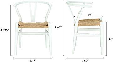 Amazon.com: Poly y corteza Wegner Wishbone – Silla de estilo ...