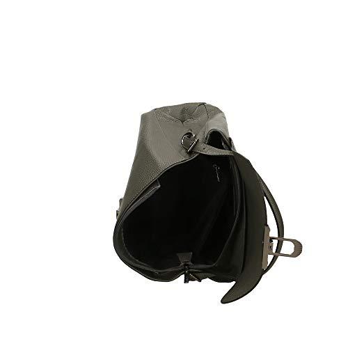 In Italy Bag 31x25x14 Made A Cm Chicca Borsa Pelle Mano Borse Grigio 8gzUqX