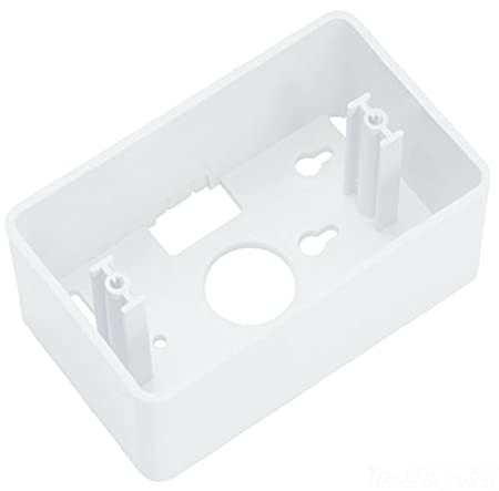 2 Ports Allen Tel Products AT30M-15 Versatap Single Gang Surface Mounting Box White Mounting Screw White