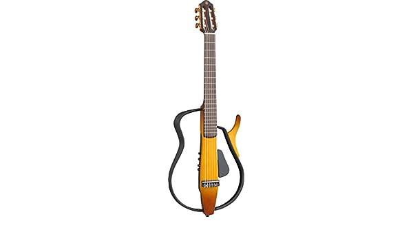 Yamaha slg110 N Guitarra Cuerdas de nailon Silencioso con Gig Bag (Tabaco Brown Sunburst): Amazon.es: Instrumentos musicales