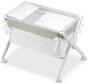 68 x 90 x 71 cm color blanco y gris Bimbi Romantic Minicuna