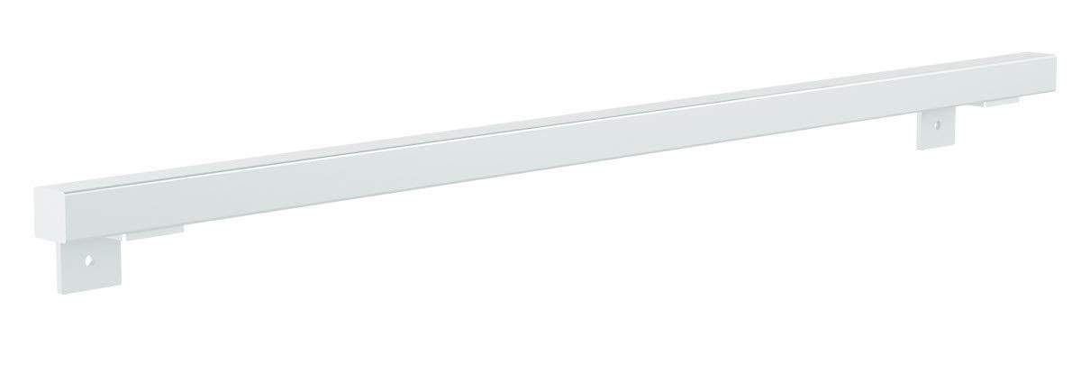 L/änge: 150 cm HOLZBRINK Handlauf rechteckig HLH-03-150-9005 Vierkantprofil 30x30 mm Treppengel/änder aus Stahl Tiefschwarz