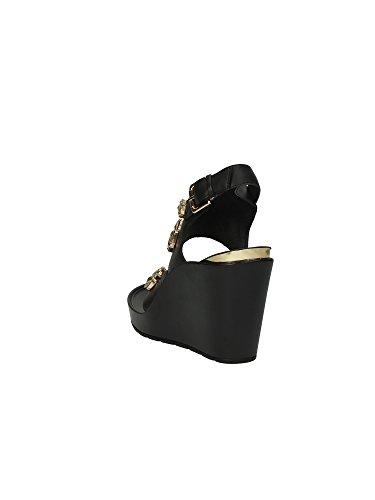 CAFèNOIR Sandal - Sandalias de vestir de material sintético para mujer E15.494 NERO/NERO