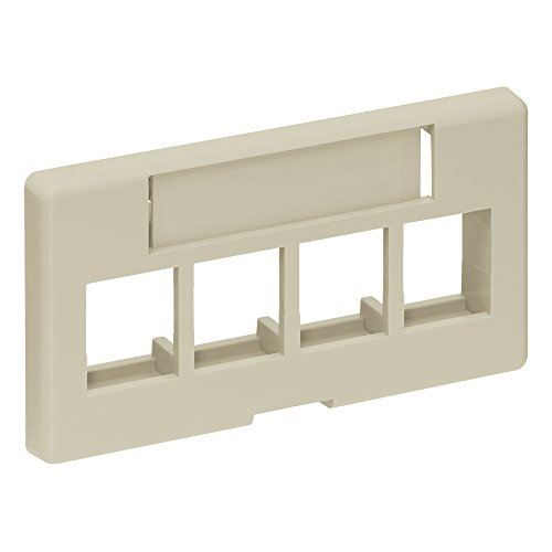 4 Port Faceplate Furniture - Leviton 49910-SI4 4-Port QuickPort Modular Furniture Faceplate, Ivory